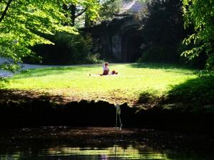 Our picnic place. / Naš prostor za piknik.