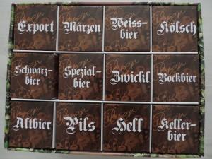 Different sorts all in one (not so) little box. / Različne vrste piva v lepi embalaži.