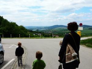 The view in front of the abbey was breathtaking! / Razgled pred samostanom je bil dih jemajoč!