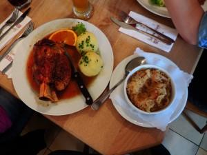 A true German delight / Prava nemška pojedina.